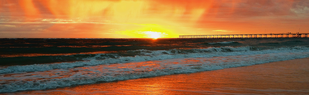 Winter sunset in Port Noarlunga