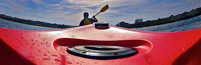 Camera mounted on an Easy Kayaks Indo Kayak