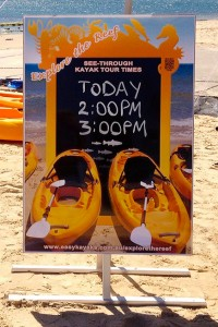 Guided kayak tours of the Port Noarlunga Reef in our glass bottom kayaks